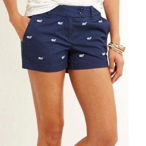 Vineyard Vines blue pink whale shorts